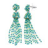 Women's Seed Bead Tassel Drop Earrings
