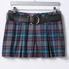 Candie's Plaid Miniskirt