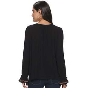 Women's SONOMA Goods for Life Long Sleeve Peasant Top