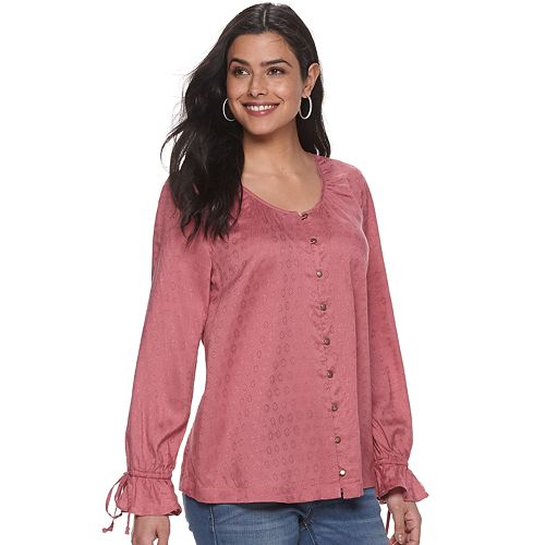 Women's SONOMA Goods for Life™ Long Sleeve Peasant Top