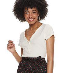 Women's POPSUGAR Henley Stripe Tee