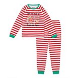 Girls 4-16 Jammies For Your Families® Stripe Baking Top & Bottoms Pajama Set by Cuddl Duds