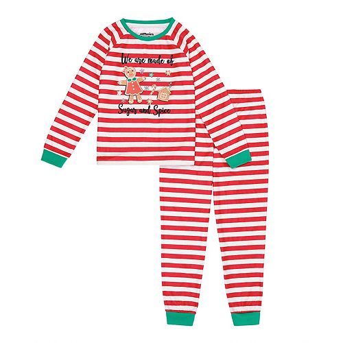 Girls 4-16 Jammies For Your Families Stripe Baking Top & Bottoms Pajama Set by Cuddl Duds