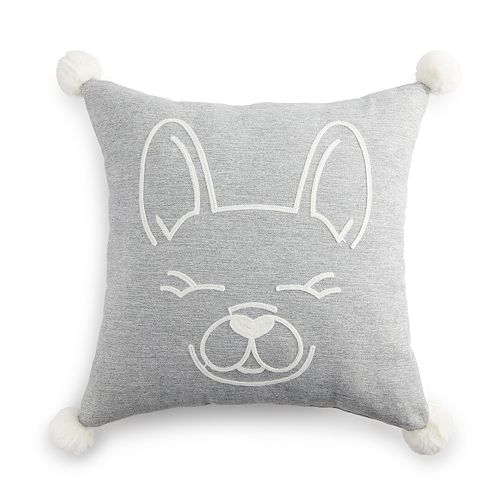 LC Lauren Conrad Ultimate Frenchie Knit Feather Fill Throw Pillow
