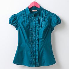 Candie's Ruffled Charmeuse Top