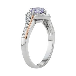 Lily & Lace Cubic Zirconia Two-Tone Ring
