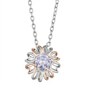 Lily & Lace Two-Tone Cubic Zirconia Pendant Necklace