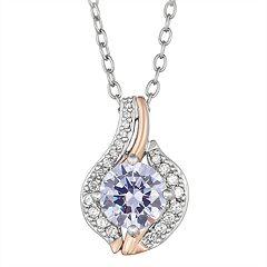 Lily & Lace Two-Tone Cluster Cubic Zirconia Pendant Necklace