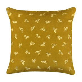 SONOMA Goods for Life? Ultimate Yellow Floral Velvet Feather-Fill Throw Pillow