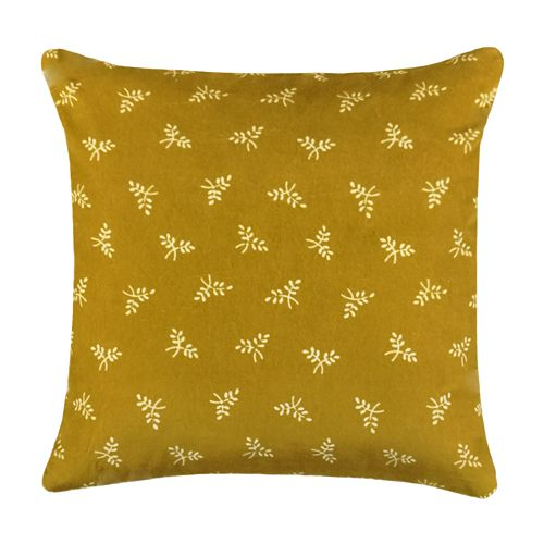 SONOMA Goods for Life™ Ultimate Yellow Floral Velvet Feather-Fill Throw Pillow