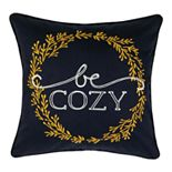 "SONOMA Goods for Life® Ultimate Navy ""Be Cozy"" Feather-Fill Throw Pillow"