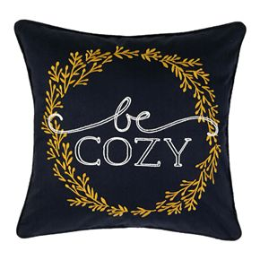 """SONOMA Goods for Life? Ultimate Navy """"Be Cozy"""" Feather-Fill Throw Pillow"""