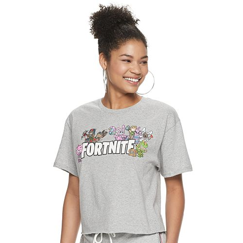 Women's Fortnite Chibi Group Cropped Tee