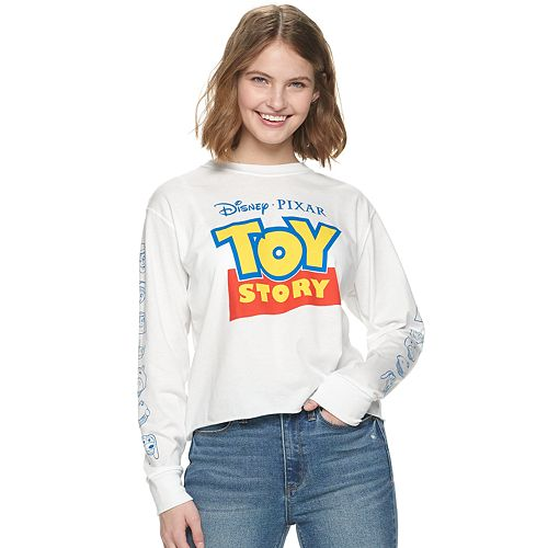 Junior's Toy Story Logo Long Sleeve Tee