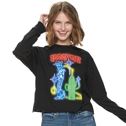 Junior's Toy Story Woody Glow Long Sleeve Tee
