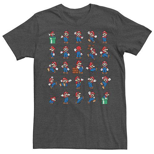 Men's Nintendo Super Mario Actions Grid Tee