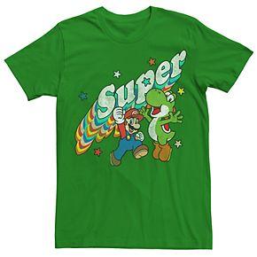 Men's Nintendo Super Mario Brothers & Yoshi Graphic Tee