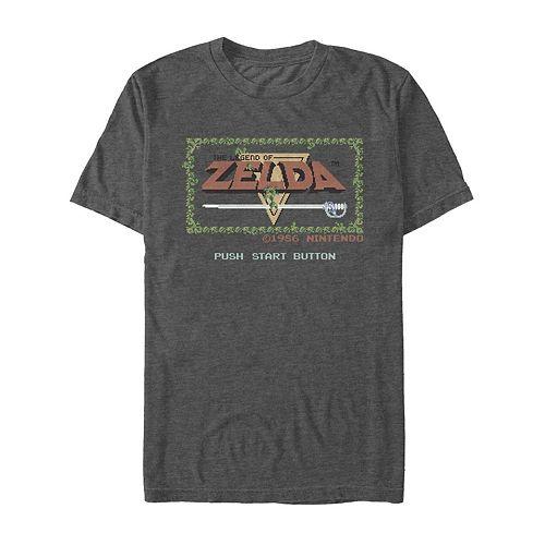 Men's Legend of Zelda Original Title Screen Retro Tee