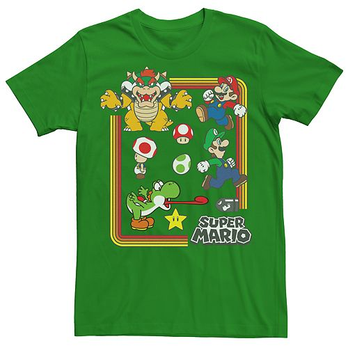 Men's Super Mario Bros Retro Group Tee