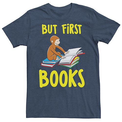 Men's But First Books Graphic Tee