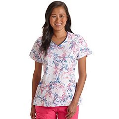 7e9aaa4d8d8 Plus Size Jockey Scrubs Printed V-Neck Top