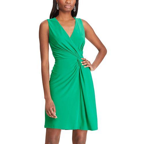 Women's Chaps Knot-Front Faux Wrap Dress