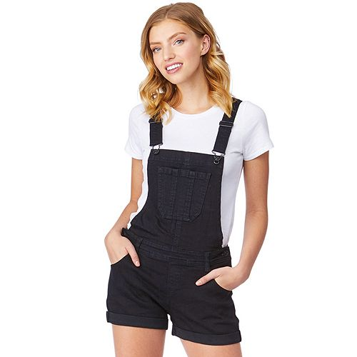 Juniors' WallFlower Insta-Stretch Denim Shortalls