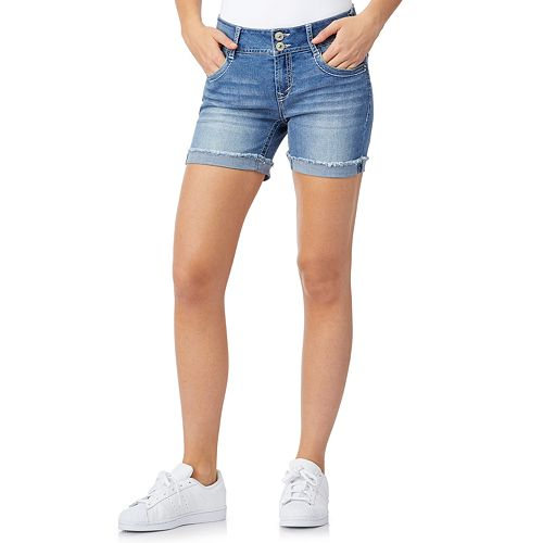 Juniors' WallFlower Luscious Curvy Bling Mid-Thigh Shorts