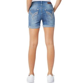 Juniors' WallFlower Luscious Curvy Bling Mid-Thigh Shorts