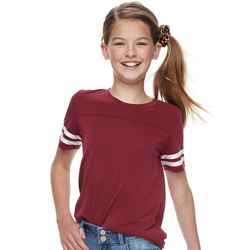 Girls 6-16 & Plus Size SO® Crewneck Varsity Tee