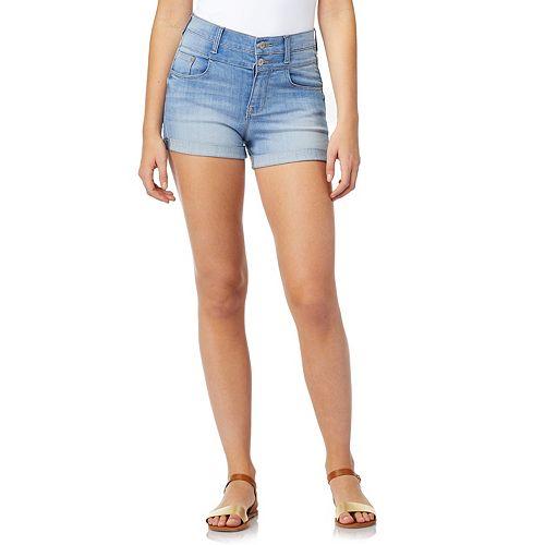 Juniors' WallFlower Sassy High-Rise Stacked Waist Shorts