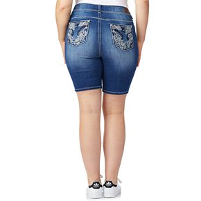 Juniors' Plus Size WallFlower Luscious Curvy Bling Bermuda Shorts