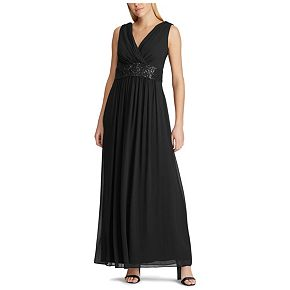 Women's Chaps Embellished Pleated Evening Dress