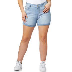 Juniors' Plus Size WallFlower Luscious Curvy Bling Shorts