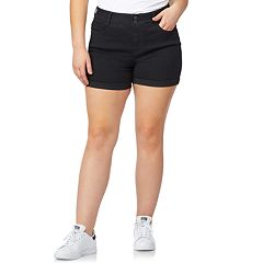 Juniors' Plus Size WallFlower Ultra Mid-Rise Shorts