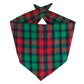 Jammies For Your Families Red Plaid Merry Christmas Family Pet Bandana