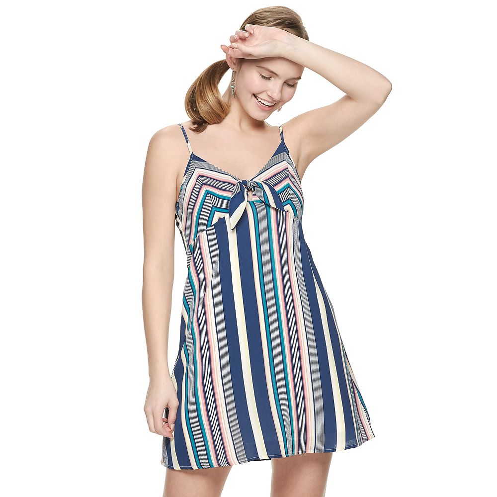 Juniors' Trixxi Front Bow Dress