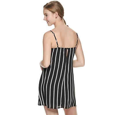 Juniors' Trixxi Bow Front A-Line Dress