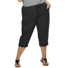 Plus Size Croft & Barrow® Pull-On Cotton Capri