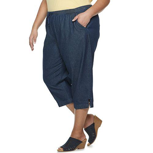 Plus Size Croft & Barrow® Pull-On Cotton Capris
