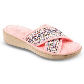 Women's Isotoner Nikki Microterry Criss-Cross Slide Slippers