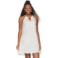 afcbd63ac7f Juniors  Candie s® Eyelet Halter Swing Dress