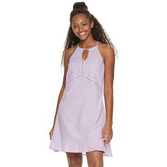 Juniors' Candie's® Eyelet Halter Swing Dress