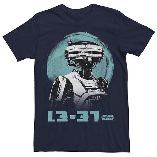 Men's Star Wars L3-37 Graphic Character Tee