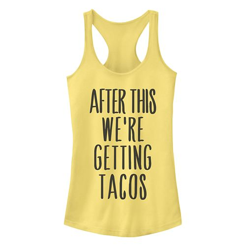 Juniors' After This We're Getting Tacos Racerback Tank by Fifth Sun
