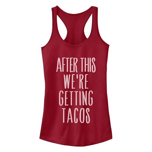 Juniors' After This We're Getting Tacos Racerback Tank