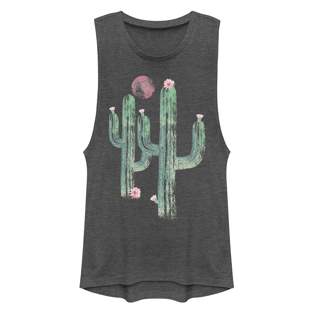 Juniors' Cactus Muscle Tank