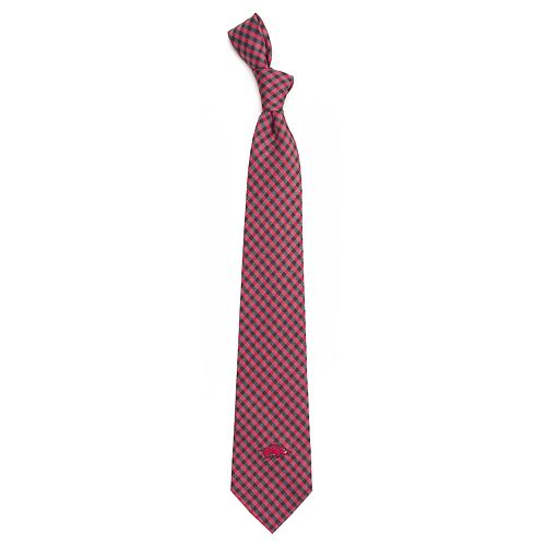 Men's Arkansas Razorbacks Gingham Tie