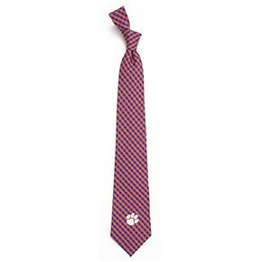 Men's Clemson Tigers Gingham Tie