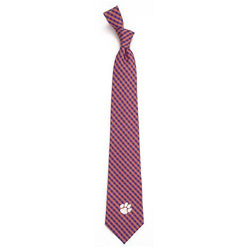 Men's Clemson Tigers Gingham Tie